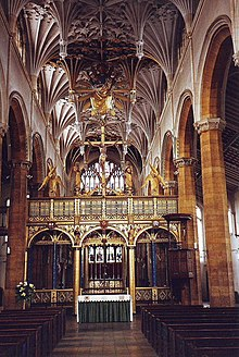 The spectacular interior of St. Mary's, Wellingborough. - geograph.org.uk - 1656080.jpg
