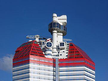 The top of Skanska high-rise at Lilla Bommen.jpg