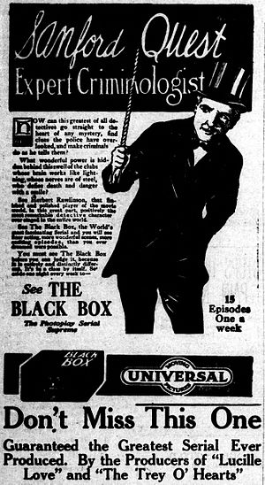 The Black Box (serial) - Newspaper advertisement