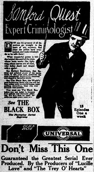 The Black Box (serial) - Newspaper advertisement