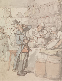 Thomas Rowlandson - A Man Buying Snuff - Google Art Project