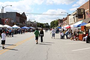 Thorntown, Indiana - Main Street during the Turning of the Leaves Festival