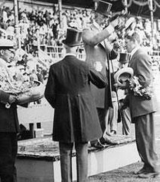Olympic medal - Jim Thorpe receives his medal at the 1912 Summer Olympics
