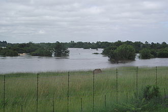 Vereeniging - Flooding along Sugarbush Drive, Three Rivers Proper