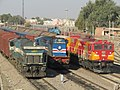 Three different generations of Indian railway locomotives.jpg
