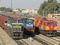 Three different generations of Indian railway locomotives.jpg