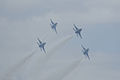 Thunderbirds Lockheed-Martin F-16C Fighting Falcons Diamond 3rd Pass 05 SNF 16April2010 (14628295344).jpg