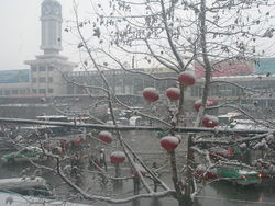 Tianshui train station in winter 2009