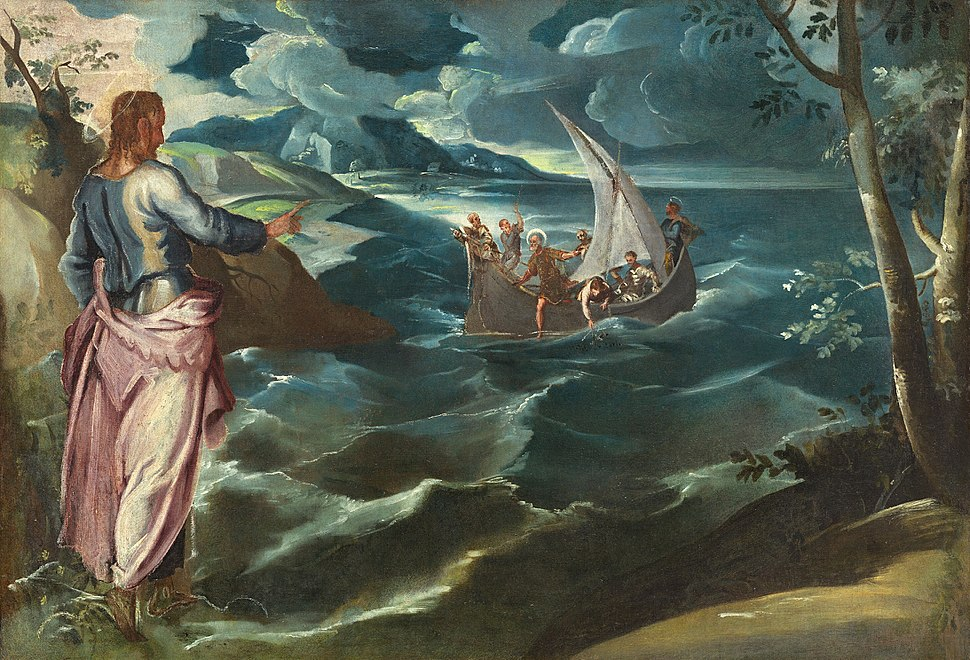 Tintoretto, Jacopo - Christ at the Sea of Galilee