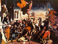 San Marcos liberando al esclavo, 1548, óleo sobre tela, Galería de la Academia de Venecia