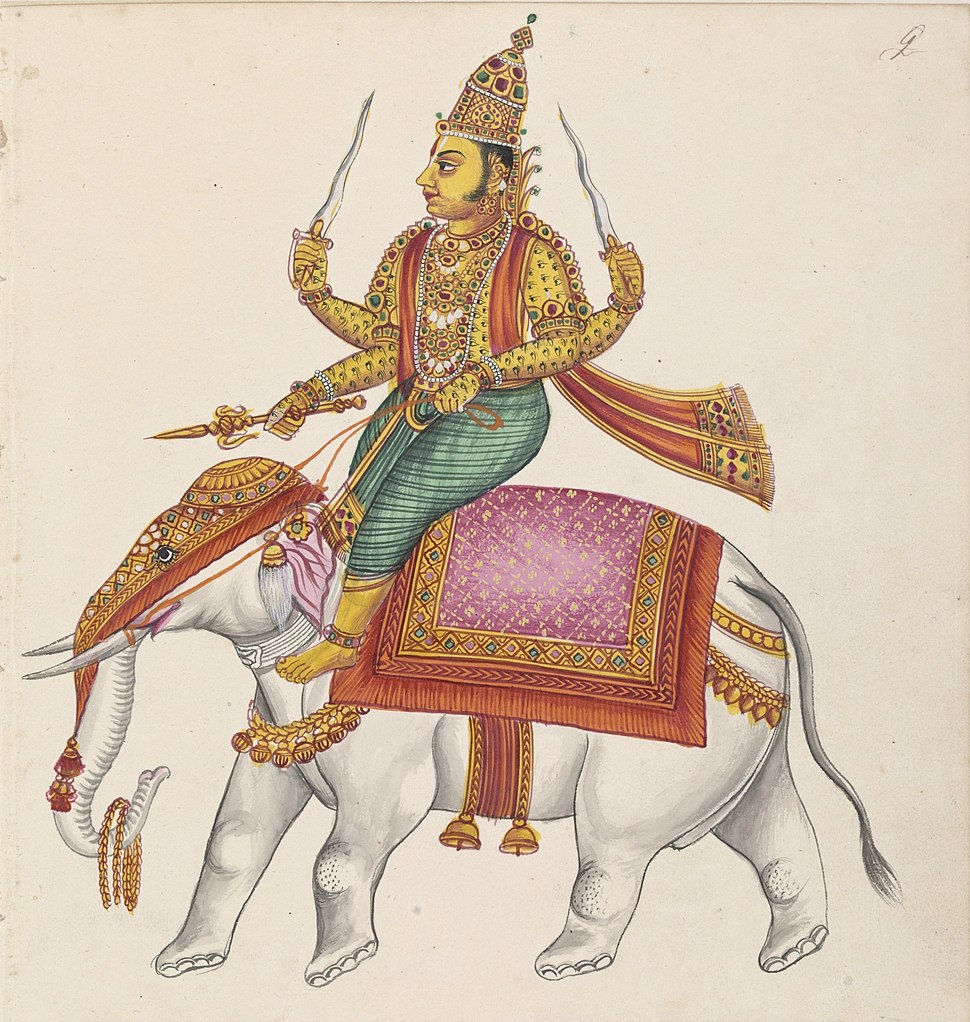 Tiruchchirappalli painting Indra (cropped)