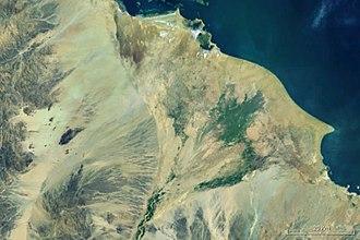 Barka River - The Tokar delta with the Barka (bottom)