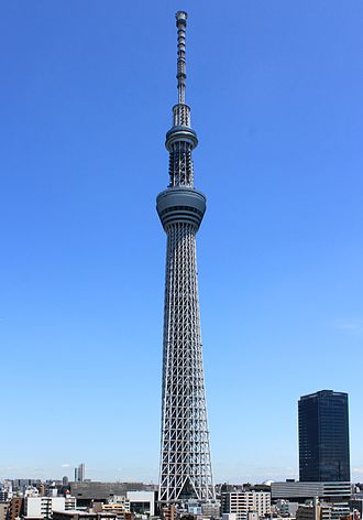 Radio masts and towers - The Tokyo Skytree, the tallest freestanding tower in the world, in 2012