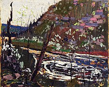 Tom Thomson. Wild Cherry Trees in Blossom 1915.jpg