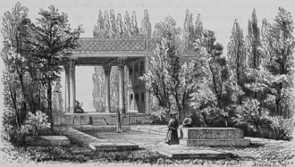 Tomb of Hafez - Drawing by Pascal Coste, 1840s