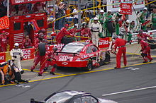 Stewart pits his No. 14 Impala in the 2009 Coca-Cola 600 at Charlotte Motor Speedway