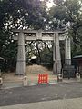 Torii of Hakozaki Shrine near Hakozaki Station.jpg