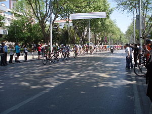 Bağdat Avenue - Riders in Stage 8 of the 49th Presidential Cycling Tour of Turkey at Bağdat Avenue, 2013.