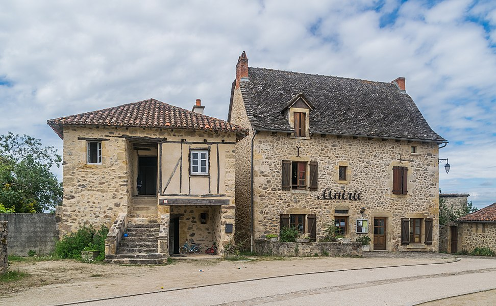 Town hall of Peyrusse-le-Roc, Aveyron, France