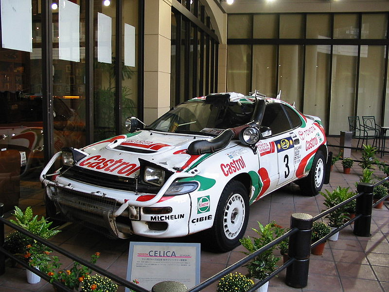 Toyota Celica Gt4 Rally Car. Like on the rally cars?
