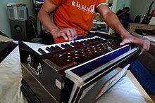 Traditional harmonium played in manhattan apartment.JPG