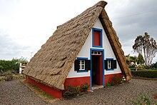 Traditional A Frame Thatched House (palheiro), Santana, Madeira, Portugal