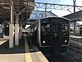 Train for Hizen-Hama Station at Hizen-Yamaguchi Station.jpg