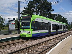 Tramlink route 2 - Image: Tram 2548 at Arena