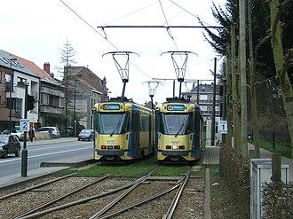 Drogenbos - Image: Tram 52 terminus in Drogenbos (430803637)