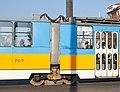Tram in Sofia near Sofia statue 2012 PD 037.jpg