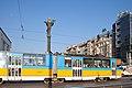 Tram in Sofia near Sofia statue 2012 PD 038.jpg