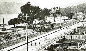 Balmoral, New South Wales - Image: Tram to balmoral Dated 29 May 1922