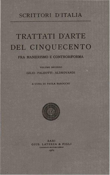 File:Trattati d'arte del Cinquecento, Vol. II, 1961 – BEIC 1946930.pdf