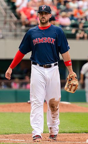 Travis Shaw - Shaw playing for the Pawtucket Red Sox, triple-A affiliates of the Boston Red Sox, in 2014