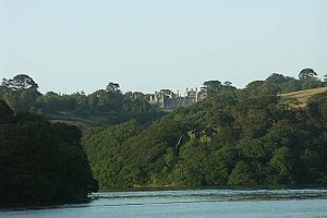 Tregothnan - Tregothnan House, above an inlet of the Carrick Roads, at the southern end of which is the port-town of Falmouth