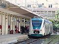 Tren, Estación central de Palermo, Sicilia, Italia, 2015.JPG