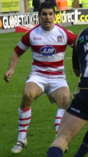 Trent Barrett - Barrett playing for Wigan in 2008