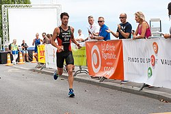 beim Triathlon in Lausanne 2012