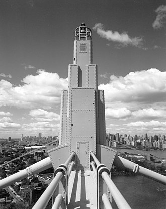Triborough Bridge - Art Deco saddle housing on Queens suspension bridge