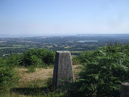 Trig point on the ridge of Graig Llysfaen-geograph-1934423-by-John-Lord