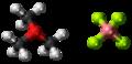 Trimethyloxonium tetrafluoroborate 3D ball.png