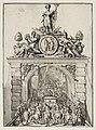 Triomfboog op de Westeinderbrug tijdens de intocht van Willem III in Den Haag. NL-HlmNHA 53008713.JPG