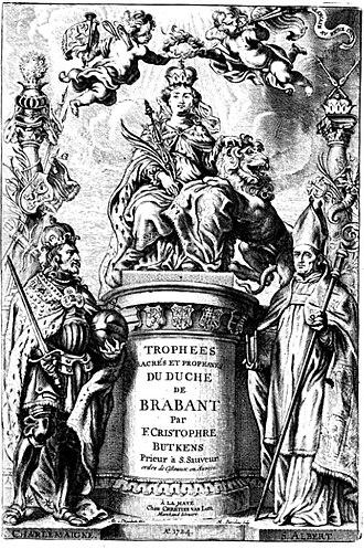 Belgian nobility - Trophées tant sacrées que profanes du Duché de Brabant, includes major noble houses of Brabant
