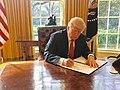 Trump signing Executive Order 13780.jpg
