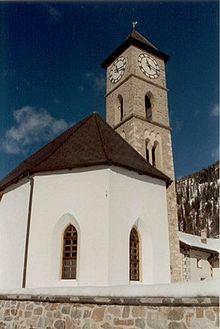 La chiesa evangelica di Tschierv