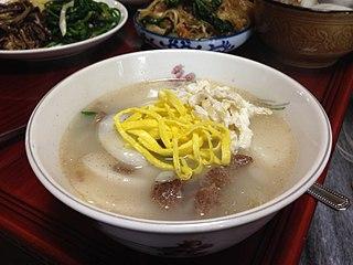Tteokguk food