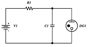 Townsend discharge - Neon lamp/cold-cathode gas diode relaxation oscillator