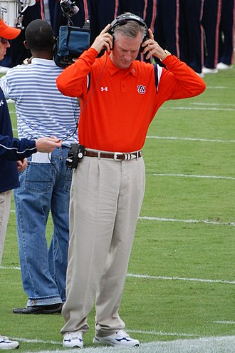Tommy Tuberville - Tuberville before the 2007 Vanderbilt game, his 100th career win