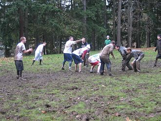 "American football on Thanksgiving - An informal ""Turkey Bowl"" game in Redmond, Washington"
