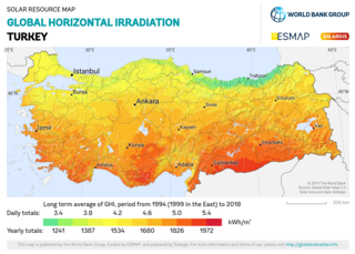 Solar power in Turkey Heat and electrical energy from the sun in the Eurasian country